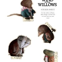 Wind in the Willows sticker sheet